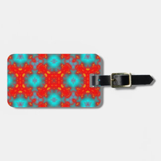 flame pattern red blue bag tag