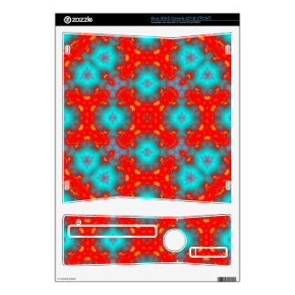 flame pattern xbox 360 s console decal