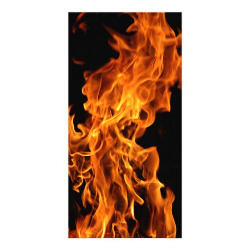 Flame Personalized Photo Card