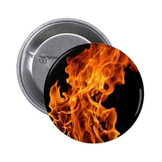 Flame Pinback Button