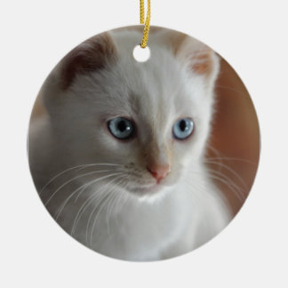 Flame Point Blue Eyes Ceramic Ornament