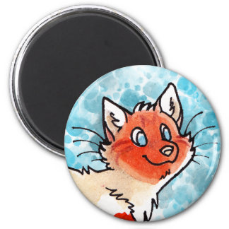Flame-Point Kitty 2 Inch Round Magnet