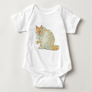 Flame point siamese cat 2 baby bodysuit