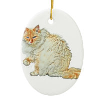 Flame point siamese cat 2 ceramic ornament