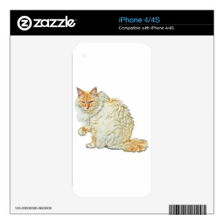 Flame point siamese cat 2 decal for the iPhone 4