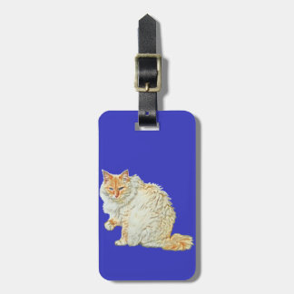 Flame point siamese cat 2 luggage tag