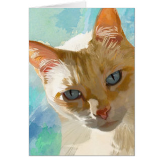 Flame Point Siamese Cat Greeting Cards
