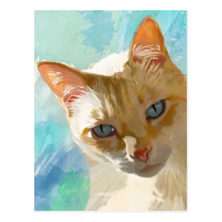 Flame Point Siamese Cat Greeting Cards Postcard