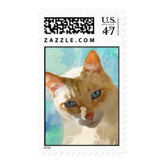 Flame Point Siamese Postage Stamp
