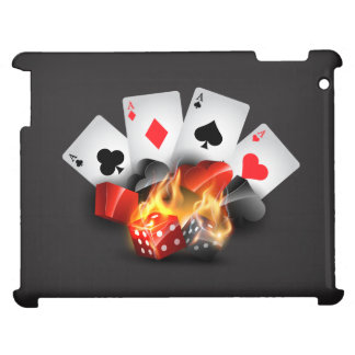 Flame Poker Casino Black Case For The iPad 2 3 4