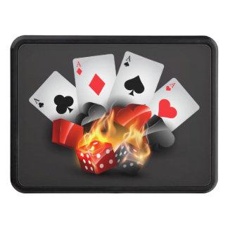 Flame Poker Casino Black Hitch Cover