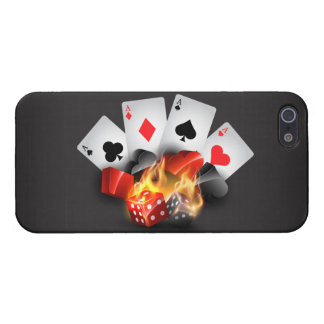 Flame Poker Casino Black iPhone 5/5S Cases