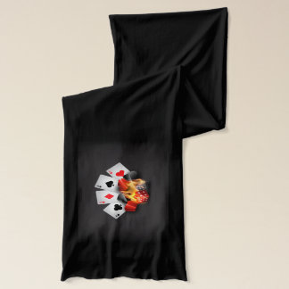 Flame Poker Casino Black Scarf