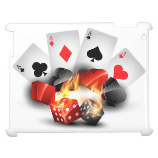 Flame Poker Casino White Cover For The iPad