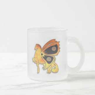 Flame Pony 10 Oz Frosted Glass Coffee Mug