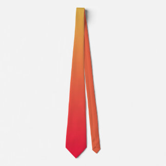 Flame red and yellow ombre neck tie
