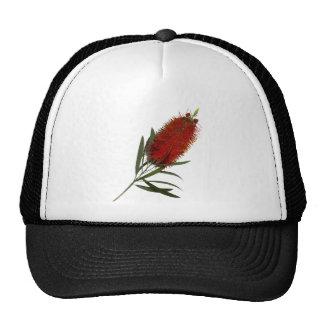 Flame Red Bottle Brush Trucker Hat
