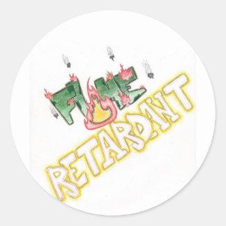 Flame Retardant Classic Round Sticker