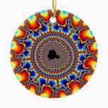 Flame Ring Ceramic Ornament