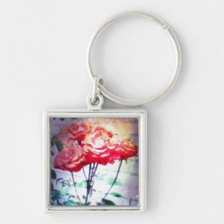 Flame Roses Keychain