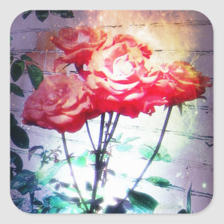 Flame Roses Stickers