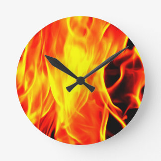 Flame Round Clock