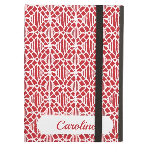 Flame Scarlett With White Crochet Lace Pattern Case For iPad Air