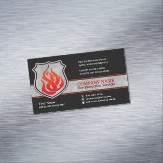Flame Shield Fire Protection Magnetic Business Card Magnet