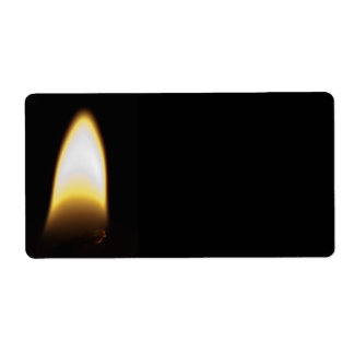 Flame Shipping Label