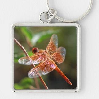 Flame Skimmer Dragonfly Keychain