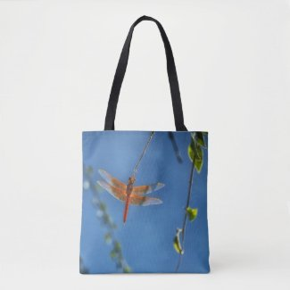 Flame Skimmer Dragonfly Tote