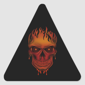 Flame Skull Triangle Sticker