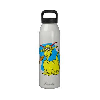 Flame Sneezer Yellow Dragon png Water Bottles