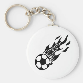 Flame Soccer Ball Keychains