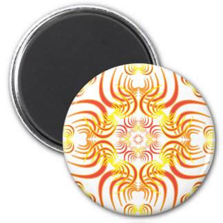 Flame Spikes 2 Inch Round Magnet