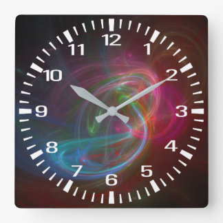 Flame Square Wall Clock
