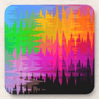 Flame Stitch Abstract Beverage Coaster