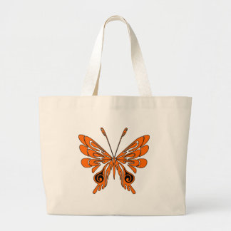 Flame Tattoo Butterfly Tote Bag