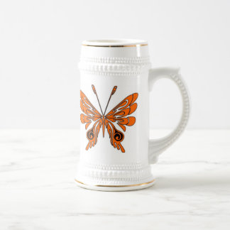 Flame Tattoo Butterfly Beer Stein