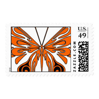 Flame Tattoo Butterfly Postage Stamp