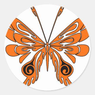 Flame Tattoo Butterfly Sticker
