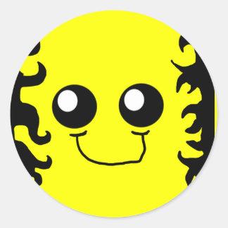 Flame Tattoo Smiley Sticker