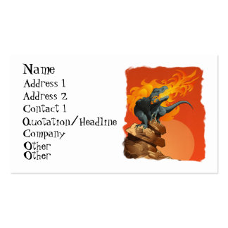 Flame Throwing Dinosaur Art by Michael Grills Double-Sided Standard Business Cards (Pack Of 100)
