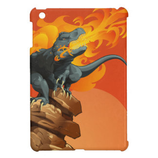 Flame Throwing Dinosaur Art by Michael Grills iPad Mini Cover