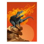 Flame Throwing Dinosaur Art by Michael Grills Postcard