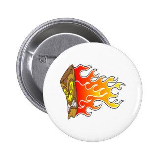 Flame Tiki God Button
