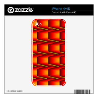 Flame Tiles Skins For iPhone 4S