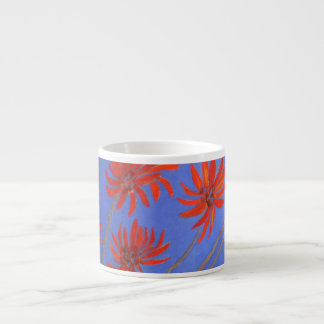 Flame tree flowers espresso cup