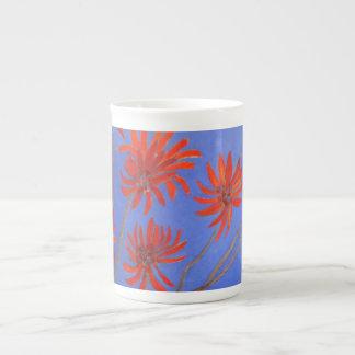 Flame tree flowers tea cup