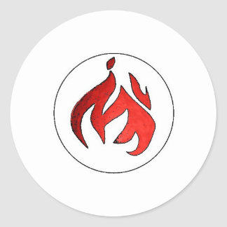 Flame Tuft of Fire from Hot Water Music Classic Round Sticker